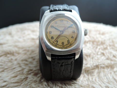 1940 Rolex BUBBLEBACK 3139 Oyster Military with Tropical Dial