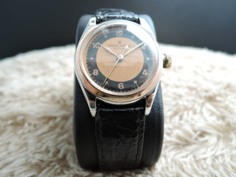 1943 Rolex OYSTER ROYAL 3121 2-Tone Pink/Black Dial with PG Bezel