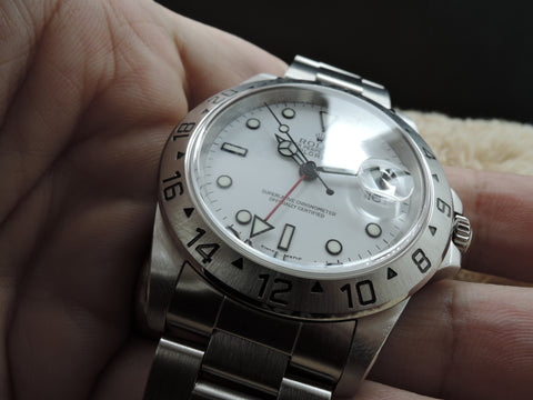 2000 Rolex EXPLORER 2 16570 White Dial with Box and Paper