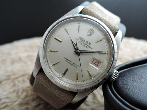 1957 Rolex DATEJUST 6605 with Creamy DIal and Red/Black Date