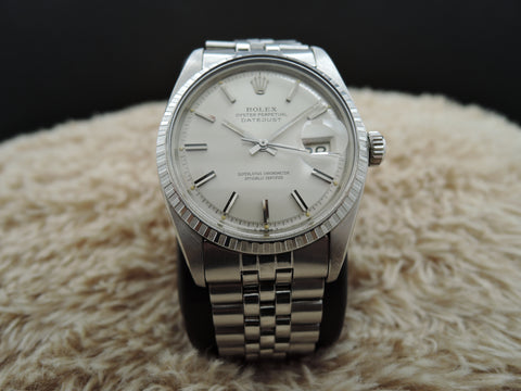 1972 Rolex DATEJUST 1603 SS ORIGINAL Silver Dial with Paper