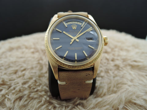 1970 Rolex DAY-DATE 1807 (not 1803) 18K Gold with Original Blue Dial