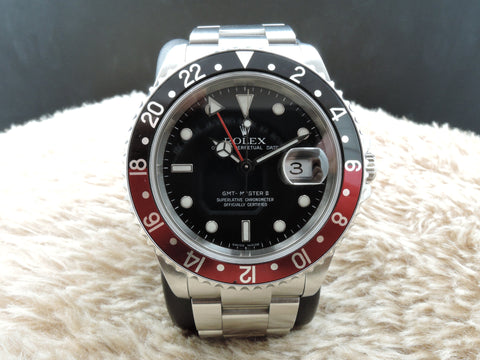 2006 Rolex GMT MASTER 2 16710 Coke Red/Black Bezel