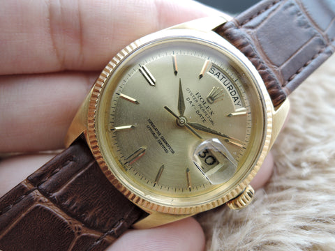 1961 Rolex DAY-DATE 1803 18K Gold with Original Non-Tritium Gold Dial