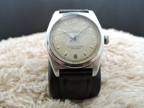 1949 Rolex BUBBLEBACK 6050 with Original 3-6-9-12 Arabic Dial