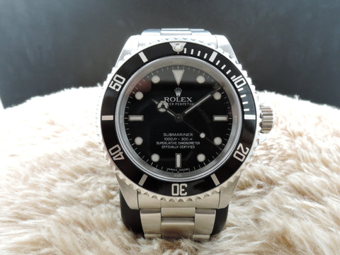 1996 Rolex SUBMARINER (No Date) 14060 with Black Bezel