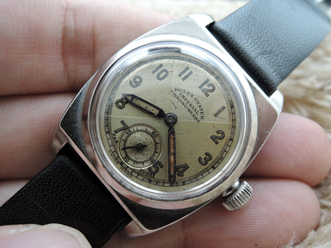 "1939 Rolex Art Deco ""Imperial"" Quartered Dial with Sub Seconds"