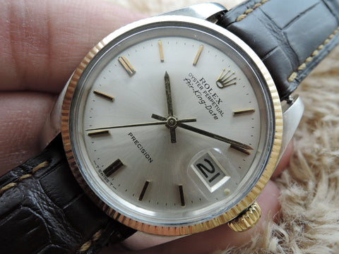 1973 Rolex AIR KING DATE 5701 Original Silver Dial RARE