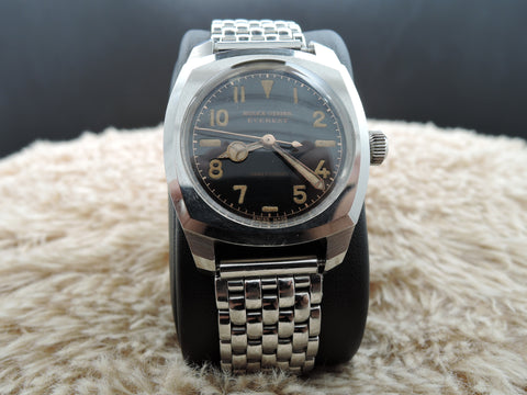 1941 Rolex BUBBLEBACK 3139 Oyster Military with Glossy Black Dial