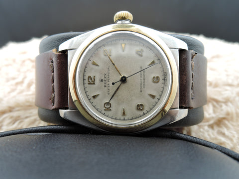 1948 Rolex BUBBLEBACK 3131 Stainless Steel with Creamy Raised Arabic Numerals