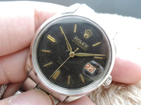 1954 Rolex OYSTERDATE 6294 Original Gilt Dial with Dauphine Hands