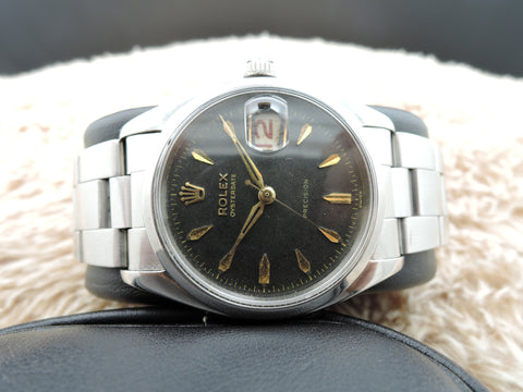 1957 Rolex OYSTER DATE 6494 Original Gilt Dial with Dauphine Hands