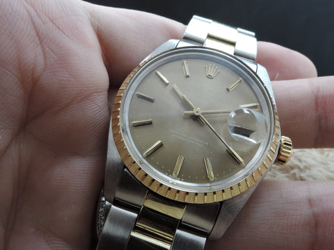 1978 Rolex OYSTER DATE 1503 2-Tone with Original Bronze Dial