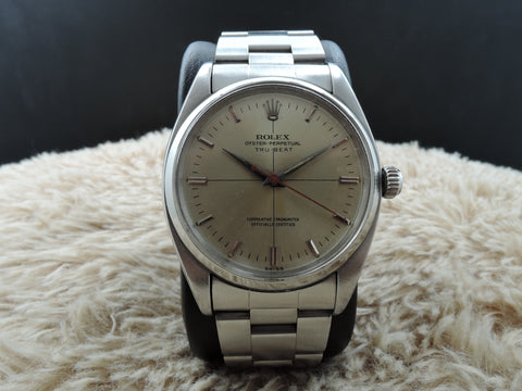 [1956] Rolex OYSTER PERPETUAL 6556 TRU BEAT with Silver Dial