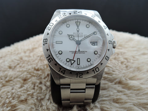 1999 Rolex EXPLORER 2 16570 White Dial Mint Condition
