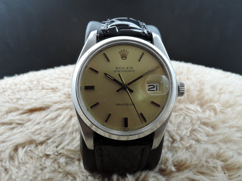 [1975] Rolex OYSTER DATE 6694 Original Gold Dial with Gold Hands