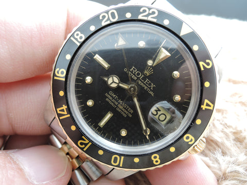 1978 Rolex GMT MASTER 2-Tone 1675 Black Nipple Dial with 2-Tone Bracelet