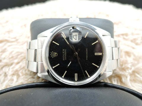 1971 Rolex OYSTER DATE 6694 Original Black Dial with Gold Markers