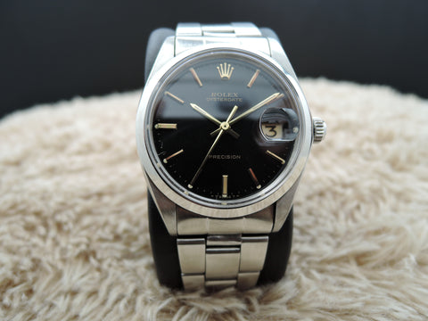 1970 Rolex OYSTER DATE 6694 Original Black Dial with Gold Markers