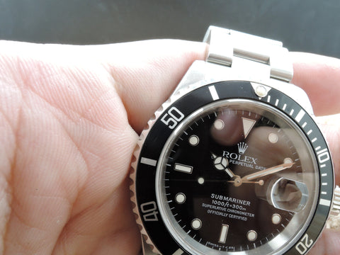 1997 Rolex SUBMARINER 16610 Black (T25) Dial with Black Bezel