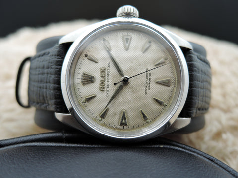 1955 Rolex BUBBLEBACK 6284 with Honeycomb Dial and Dauphine Hands