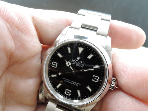 2004 Rolex EXPLORER 1 114270 Black Dial Mint Condition