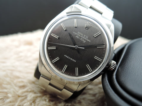1970 Rolex AIR KING 5500 Grey Texture Dial with Solid Oyster Band