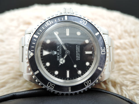 1988 Rolex SUBMARINER 5513 with Spider Web Dial and Grey Bezel