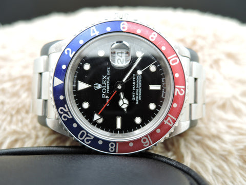 1994 Rolex GMT MASTER 16700 Pepsi Red/Blue Bezel with BOX and PAPER