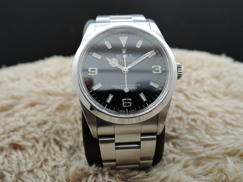 2000 Rolex EXPLORER 1 114270 Black Dial with BOX and Paper
