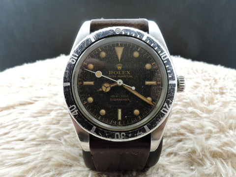 1957 Rolex SUBMARINER 6536/1 Original Gilt Dial Orange Patina, Unpolished