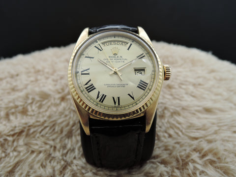 1976 Rolex DAY-DATE 1803 18K Gold with Original Gold Buckley Dial