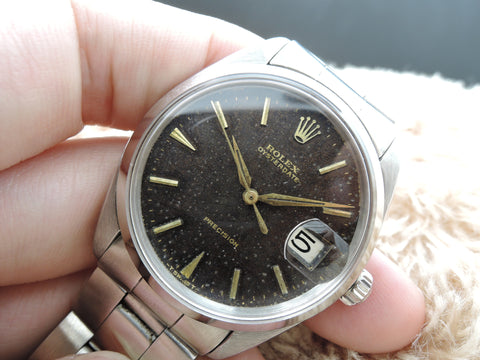 1963 Rolex OYSTER DATE 6694 Original Tropical Gilt Dial with Gold Markers