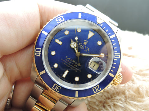 1995 Rolex SUBMARINER 16613 2-Tone Blue Dial with Blue Bezel