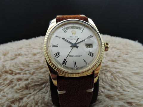 1977 Rolex DAY-DATE 1803 18K Gold with Original Silver Buckley Dial