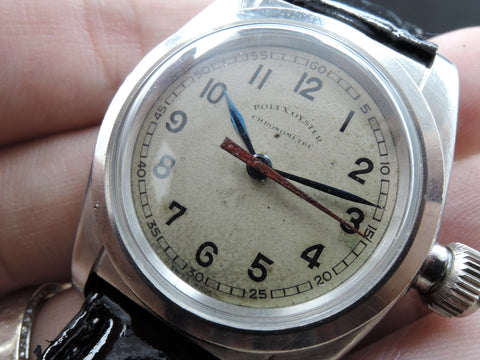 1940 Rolex OYSTER 2765 with Blue Pencil Hands and Red Second Hand