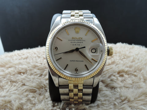 1960 Rolex AIR KING EXPLORER -DATE- 5701 Original Creamy Dial RARE