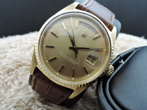 1968 Rolex DAY-DATE 1803 18K Gold with Original Copper Brown Dial