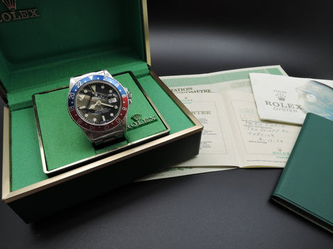 1972 Rolex GMT MASTER 1675 Matt Dial Pepsi with Box and Papers
