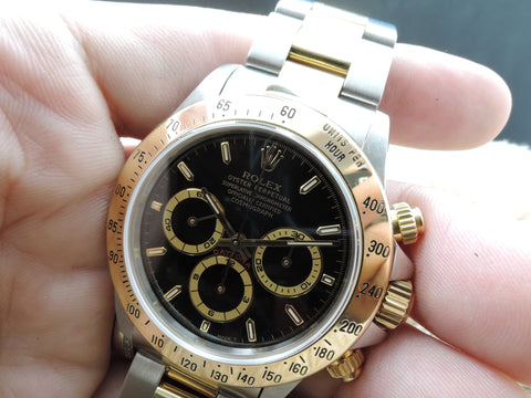 1997 Rolex DAYTONA 16523 (Zenith) 2-Tone with Original Black Dial