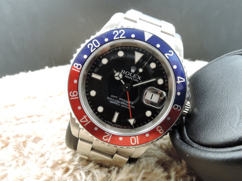 2006 Rolex GMT MASTER 2 16710 Pepsi Red/Blue Bezel