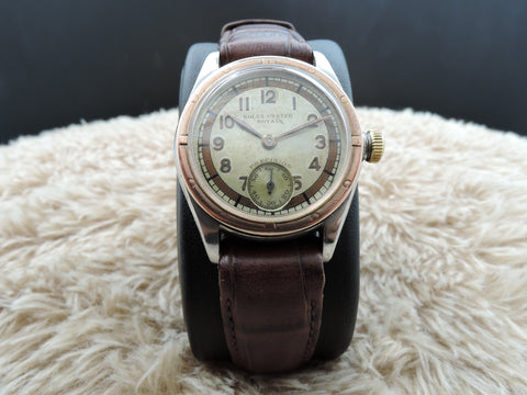 1940 Rolex OYSTER ROYAL 3121 2-Tone Creamy Raised Arabic Dial with PG Bezel