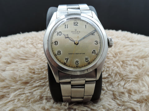 1951 Rolex OYSTER 6082 with Original Silver Arabic Dial