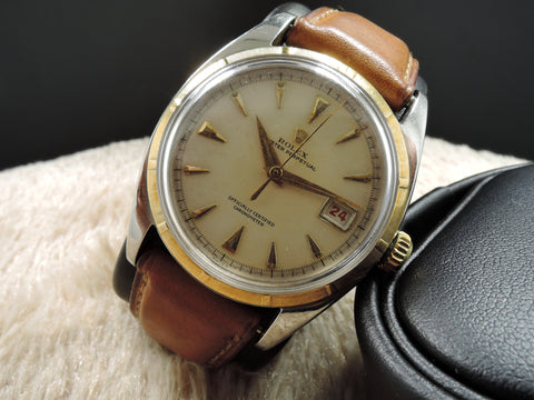 1952 Rolex OYSTER PERPETUAL 6105 PRE-Datejust BIG Bubbleback (36mm)