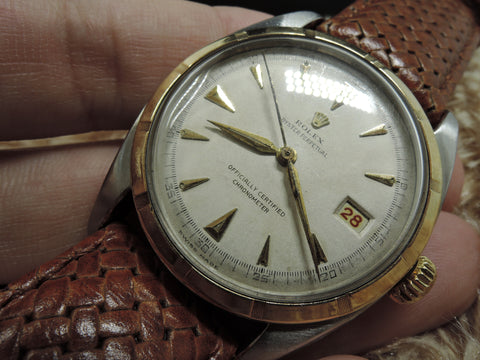 1951 Rolex OYSTER PERPETUAL 6105 PRE-Datejust BIG Bubbleback (36mm)