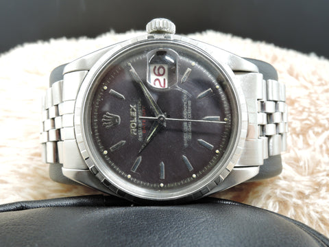 "1959 Rolex DATEJUST 6605 with Purple DIal RED ""Datejust"" and Red/Black Date"