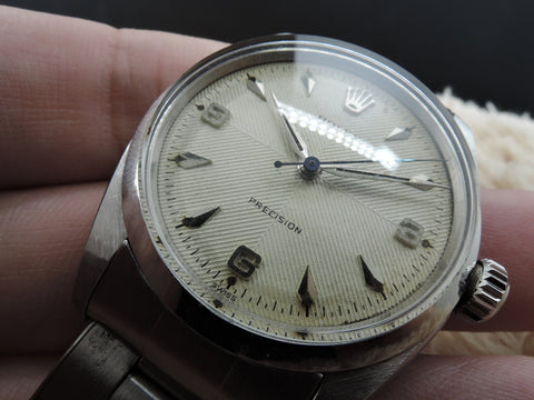 1954 Rolex OYSTER 6422 Dual Texture Explorer Dial with Rivet Band