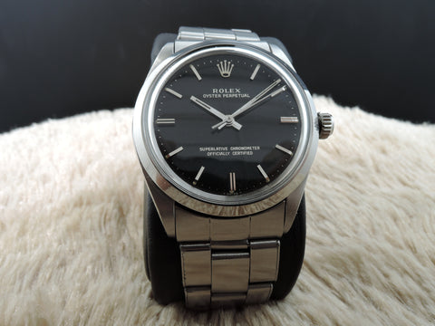 1962 Rolex OYSTER PERPETUAL 1002 Original Gilt Dial with Rivet Band