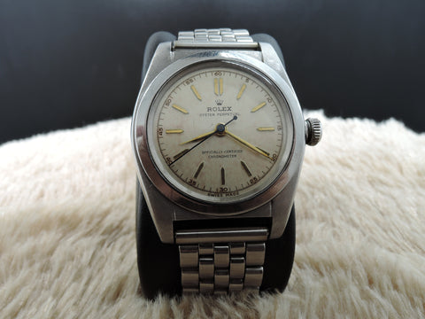 1942 Rolex BUBBLEBACK 2940 with Chapter Ring Tropical Dial