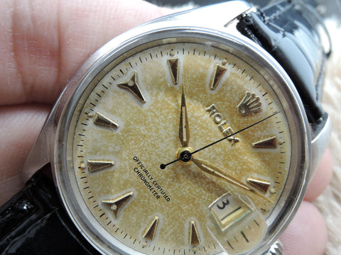 "1956 Rolex 6534 Original Tropical Dial without ""OYSTER PERPETUAL"", RARE"